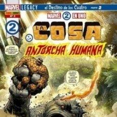 Cómics: MARVEL 2 EN 1 - LA COSA Y LA ANTORCHA HUMANA Nº. 02: EL DESTINO DE LOS CUATRO (PARTE 2).REBAJADISIMO. Lote 178972757