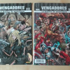 Cómics: ULTIMATE COMICS VENGADORES LA MUERTE DE SPIDERMAN NUMEROS 11 Y 12. Lote 180245697