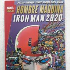 Cómics: HOMBRE MÁQUINA. IRON MAN 2020 (MARVEL GOLD) - PANINI / MARVEL. Lote 180323286