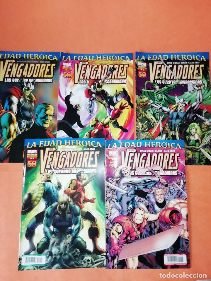 LOS VENGADORES. LA EDAD HEROICA. LAS GUERRAS ASGARDIANAS .COMPLETA 5 NUMEROS. (Tebeos y Comics - Panini - Marvel Comic)