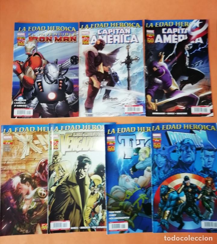 LA EDAD HEROICA. IRON MAN ,C.AMERICA. PATRULLA X ,THOR, X-MEN Y NUEVOS VENGADORES.PANINI BUEN ESTADO (Tebeos y Comics - Panini - Marvel Comic)