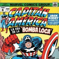 Cómics: CAPITAN AMERICA 6 LA ERA DE LA BOMBA LOCA - PANINI / MARVEL OMNI GOLD / TAPA DURA. Lote 183203288