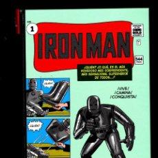 Cómics: IRON MAN 1 - PANINI / MARVEL OMNI GOLD / ORIGEN Y PRIMERAS AVENTURAS CLASICAS !. Lote 183978180