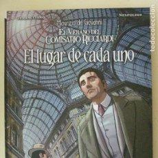 Cómics: EL LUGAR DE CADA UNO - EL VERANO DEL COMISARIO RICCIARDI - MAURIZIO DE GIOVANNI - PANINI COMICS. Lote 186111370