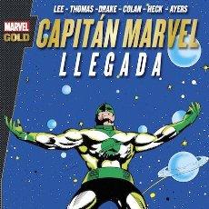 Cómics: CAPITAN MARVEL : LLEGADA - PANINI / MARVEL GOLD / RUSTICA. Lote 187207625