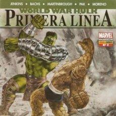 Cómics: WORLD WAR HULK PRIMERA LINEA Nº 2 - PANINI - MUY BUEN ESTADO. Lote 187454655