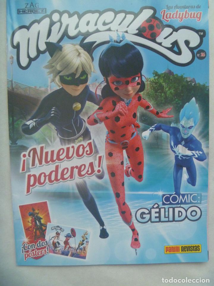 LAS AVENTURAS DE LADYBUG , N º 16 : MIRACULOUS, NUEVOS PODERES . COMIC : GELIDO . DE PANINI (Tebeos y Comics - Panini - Otros)