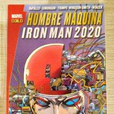 Cómics: HOMBRE MÁQUINA IRON MAN 2020 TOMO ÚNICO RÚSTICA (MARVEL GOLD PANINI). Lote 189256211
