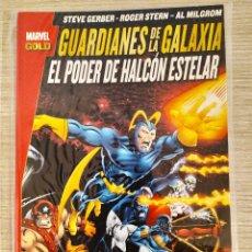 Cómics: GUARDIANES DE LA GALAXIA EL PODER DE HALCÓN ESTELAR TOMO RÚSTICA (MARVEL GOLD PANINI). Lote 189258478