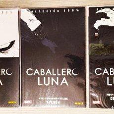 Cómics: COLECCIÓN 100% MARVEL CABALLERO LUNA 3 TOMOS (1+2+3) RÚSTICA PANINI. Lote 189260741