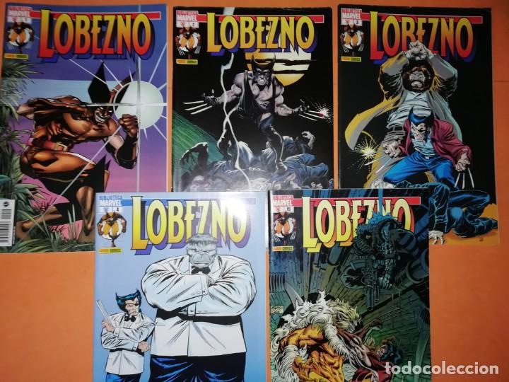 LOBEZNO. BIBLIOTECA MARVEL.LOTE. NUMEROS 1,2,3,4 Y 15. GRAPA. COLOR. BUEN ESTADO. (Tebeos y Comics - Panini - Marvel Comic)