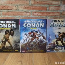 Cómics: 3 TOMOS LA ESPADA SALVAJE DE CONAN 0 , 1 Y 2 MARVEL LIMITED EDITION PANINI IMPECABLES. Lote 189768512