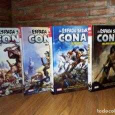 Cómics: 4 TOMOS LA ESPADA SALVAJE DE CONAN 0, 1, 2 Y 3 MARVEL LIMITED EDITION PANINI IMPECABLES. Lote 191197837