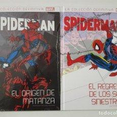 Cómics: SPIDERMAN - EL REGRESO DE LOS SEIS SINIESTROS + EL ORIGEN DE MATANZA - SALVAT PANINI - BAGLEY. Lote 191290151
