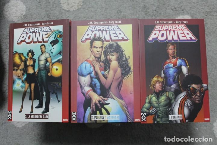SUPREME POWERS COMPLETA 1 2 3 CONTACTO PODERES Y AUTORIDAD LA VERDADERA CARA (Tebeos y Comics - Panini - Marvel Comic)
