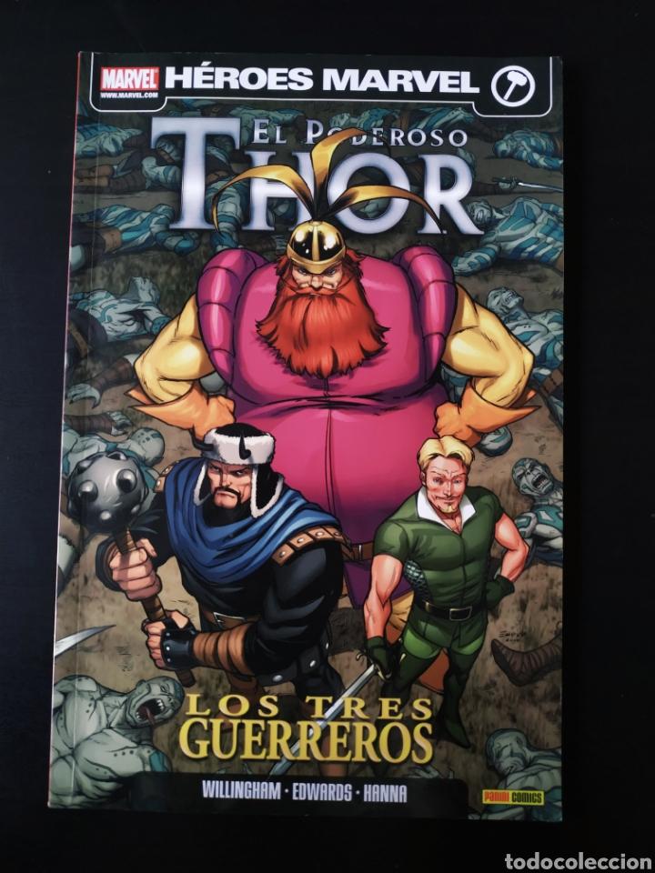 CASI EXCELENTE ESTADO EL PODEROSO THOR LOS TRES GUERREROS PANINI COMICS (Tebeos y Comics - Panini - Marvel Comic)