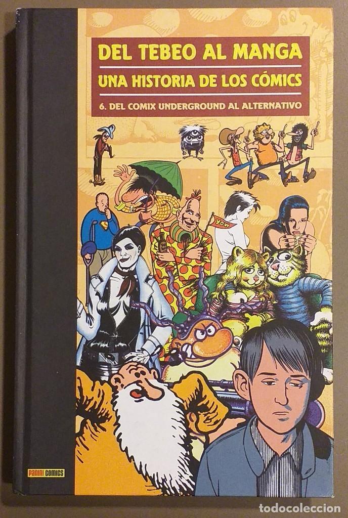 DEL TEBEO AL MANGA. UNA HISTORIA DE LOS CÓMICS. TOMO VI. DEL CÓMIX UNDERGROUND AL ALTERNATIVO. NUEVO (Tebeos y Comics - Panini - Otros)