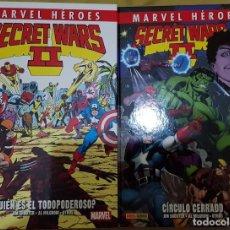 Cómics: MARVEL HEROES SECRET WARS II 01 Y 02 ¿QUIEN ES EL TODOPODEROSO? Y CIRCULO CERRADO. TOMOS PANINI. Lote 194244850