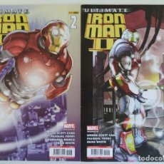 Cómics: ULTIMATE IRON MAN II NºS 1 Y 2 (MINISERIE COMPLETA) - MARVEL / PANINI. Lote 194284972