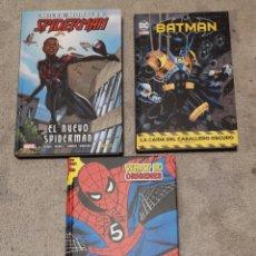 Cómics: LOTE SPIDERMAN MILES MORALES WHAT IF ORÍGENES BATMAN. Lote 194787960