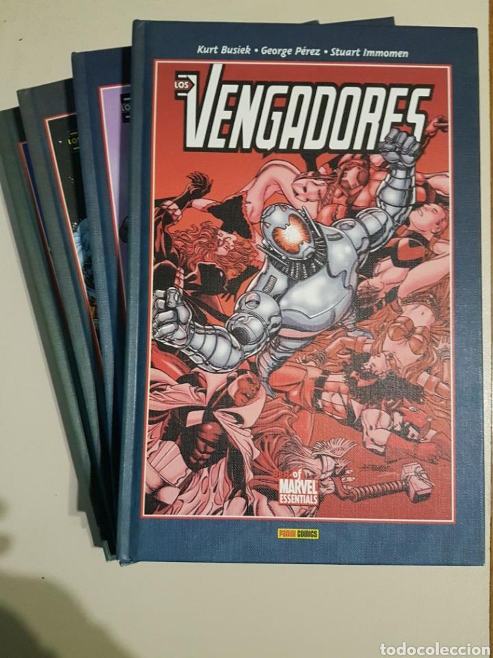 BEST OF MARVEL ESSENTIALS - LOS VENGADORES - TOMOS 1 2 3 4 - COMPLETO - PANINI - BUSIEK PEREZ (Tebeos y Comics - Panini - Marvel Comic)