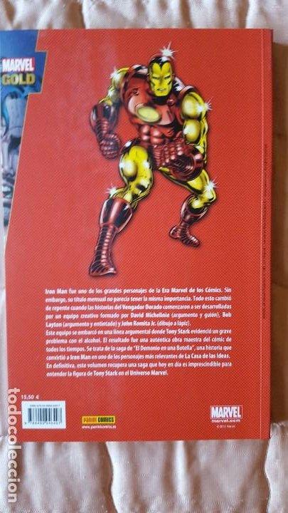 Cómics: MARVEL GOLD IRON MAN EL DEMONIO EN UNA BOTELLA - Foto 2 - 195260352