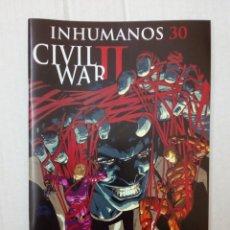 Cómics: INHUMANOS Nº 30. CIVIL WAR II. Lote 195267780