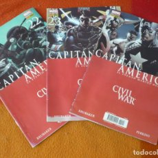 Cómics: CAPITAN AMERICA VOL. 6 NºS 22, 23 Y 24 CIVIL WAR ( BRUBAKER ) PANINI MARVEL. Lote 195301618