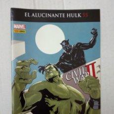 Cómics: EL ALUCINANTE HULK Nº 55. CIVIL WAR II. Lote 195322555