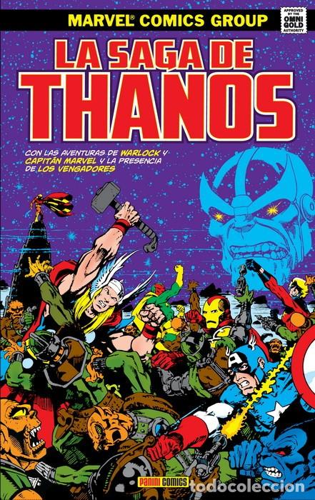 MARVEL GOLD. LA SAGA DE THANOS. TOMO PANINI. (Tebeos y Comics - Panini - Marvel Comic)