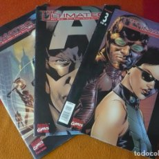 Cómics: THE ULTIMATES VOL. 1 NºS 1, 2 Y 3 ¡COMPLETA! ( MILLAR HITCH ) MARVEL PANINI . Lote 195370655
