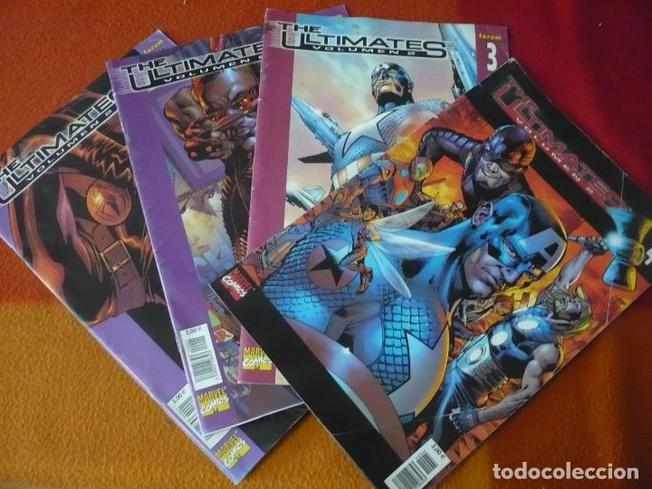 THE ULTIMATES VOL. 2 NºS 1, 2, 3 Y 4 ¡COMPLETA! ( MILLAR HITCH ) MARVEL PANINI (Tebeos y Comics - Panini - Marvel Comic)