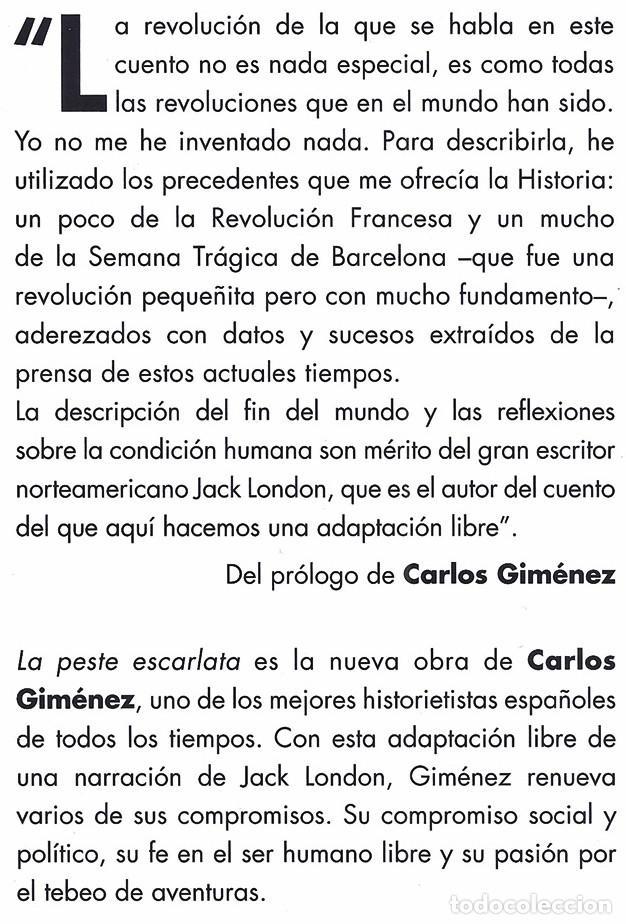 Cómics: La peste escarlata (Carlos Giménez) / Evolution - Panini, 2015   ADAPTACIÓN DE RELATO DE JACK LONDON - Foto 2 - 196069372