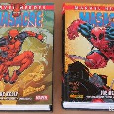 Comics: MARVEL HÉROES 68 70 - MASACRE 1 2 - COMPLETA JOE KELLY - PANINI - NUEVOS (PRECINTADOS). Lote 270212543