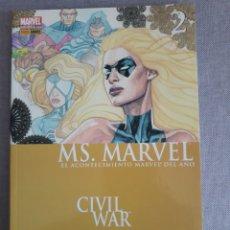 Comics: MS MARVEL TOMO 2. CIVIL WAR. Lote 201979167