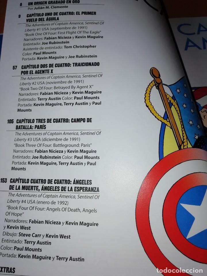 Cómics: LAS AVENTURAS DEL CAPITAN AMERICA CENTINELA DE LA LIBERTAD. NICIEZA & MAGUIRE. CARTONE. - Foto 4 - 204066536