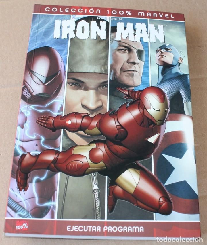 COLECCIÓN 100% MARVEL - IRON MAN - EJECUTAR PROGRAMA - PANINI 2007 - MUY BUEN ESTADO (Tebeos y Comics - Panini - Marvel Comic)