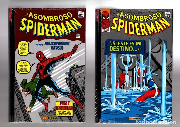EL ASOMBROSO SPIDERMAN 1 Y 2 - PANINI / MARVEL OMNI GOLD / TODA LA ETAPA CLASICA DE LEE Y DITKO! (Tebeos y Comics - Panini - Marvel Comic)