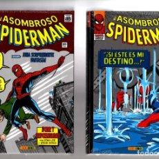 Cómics: EL ASOMBROSO SPIDERMAN 1 Y 2 - PANINI / MARVEL OMNI GOLD / TODA LA ETAPA CLASICA DE LEE Y DITKO!. Lote 206322587