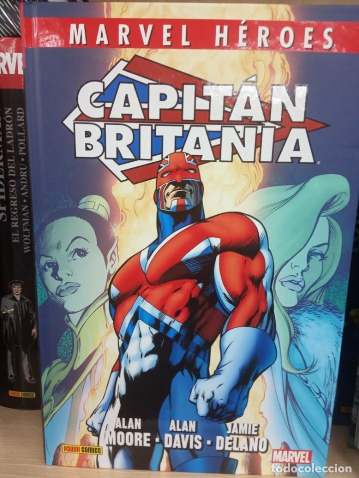 MÁRVEL HÉROES, CAPITÁN BRITANIA, EDITORIAL PANINI. (Tebeos y Comics - Panini - Marvel Comic)