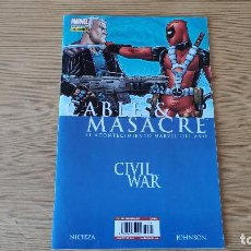 Cómics: CIVIL WAR: CABLE Y MASACRE (GRAPA ÚNICA), DE PANINI COMICS (FABIAN NICIEZA & STAZ JOHNSON). Lote 206528386
