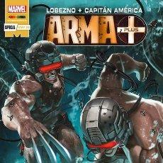 Cómics: LOBEZNO / CAPITAN AMERICA : ARMA PLUS - PANINI / MARVEL GRAPA / NOVEDAD. Lote 206803740