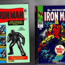 Cómics: IRON MAN 1 Y 2 - PANINI / MARVEL OMNI GOLD / NUEVOS Y PRECINTADOS. Lote 207869412