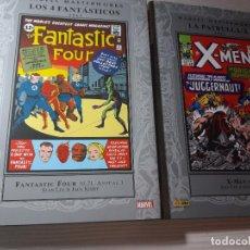 Cómics: 2 TOMOS PANINI MARVEL MASTERWORKS X-MEN - 4 FANTASTICOS COLOR TAPA DURA. Lote 145272522