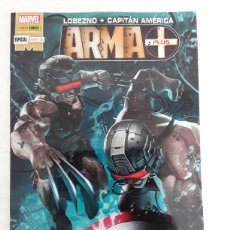 Cómics: LOBEZNO + CAPITÁN AMÉRICA. ARMA PLUS (GRAPA) - PANINI / MARVEL. Lote 210287002