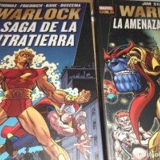 Cómics: MARVEL GOLD WARLOCK - PANINI - JIM STARLIN 2 TOMOS LA SAGA CONTRATIERRA Y AMENZA DE THANOS. Lote 212556020