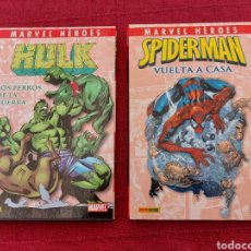 Cómics: MARVEL HEROES-HULK LOS PERROS DE LA GUERRA/SPIDERMAN VUELTA A CASA-2 TOMOS PANINI COMICS. Lote 214422417