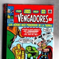 Cómics: LOS VENGADORES 1 : LA LLEGADA - PANINI / MARVEL OMNI GOLD / TAPA DURA / NUEVO Y PRECINTADO. Lote 183465108