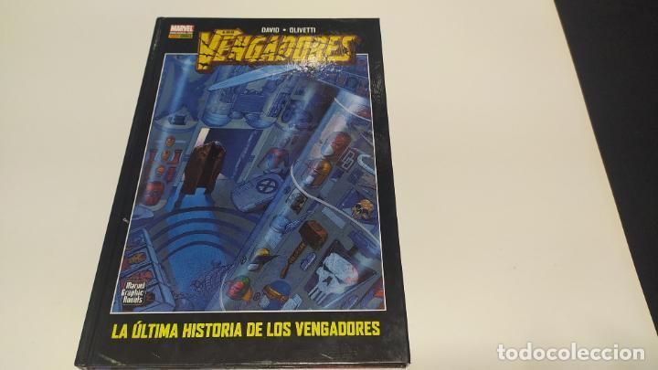 LA ULTIMA HISTORIA DE LOS VENGADORES PANINI COMICS MARVEL TAPA DURA BUEN ESTADO (Tebeos y Comics - Panini - Marvel Comic)