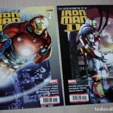 Cómics: ULTIMATE IRON MAN II ,NºS 1 Y 2 ( DE SCOTT CARD & PASQUAL FERRY ) SAGA COMPLETA. Lote 217566372